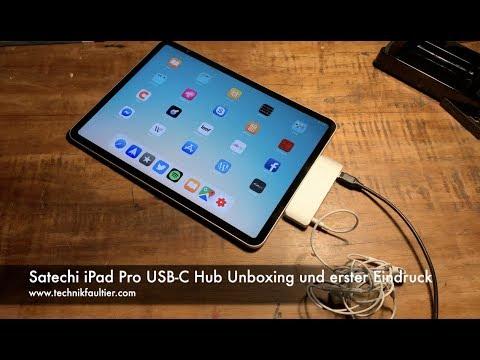 Satechi iPad Pro USB-C Hub Unboxing und erster Eindruck