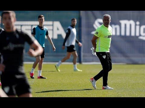 El Málaga entrena con normalidad pese a no haber jornadas ligueras