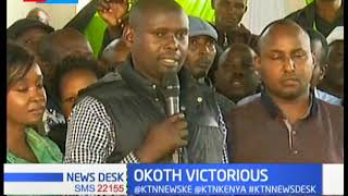 ODM's Imran Okoth triumph in Kibra by - election as Jubilee's Mc Donald Mariga concede defeat