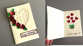Beautiful Handmade Card For Birthday/Anniversary | DIY Card Making Idea