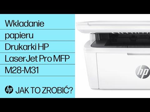 Jak wkładać papier do drukarek HP LaserJet Pro MFP M28-M31