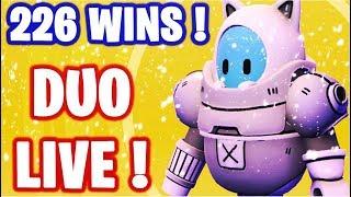 🔴 HELLO ! GO TOP 1 SUR FALL GUYS EN DUO  ! NOUVEAU SKIN ! ✌ I 226 WINS 🏆 / LVL MAX ✅ (En direct)