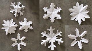 Paper Snowflake Tutorial/ DIY Paper Cutting Art/ DIY/ Paper Crafts For School / Kids Craft Ideas