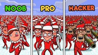 Minecraft - ELF ON THE SHELF CHALLENGE! (NOOB vs PRO vs HACKER)