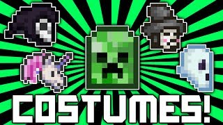 Terraria 1.2.1 How To Get ALL Costumes! Creeper Costume, Ghost, Unicorn, Halloween Update! @demizegg