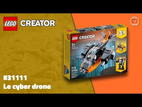 Vidéo LEGO Creator 31111 : Le cyber drone