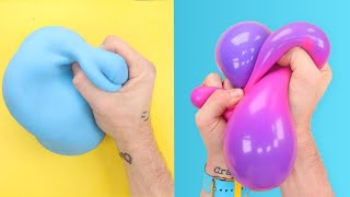 Unboxing & DESTROYING Satisfying Squishy Stress Relievers