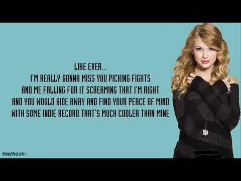 WE ARE NEVER EVER GETTING BACK TOGETHER - TAYLOR SWIFT (Lyrics)