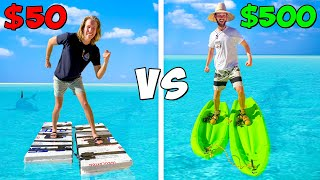 $50 vs $500 WALK ON WATER Shoes! *BUDGET CHALLENGE*
