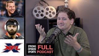 Carson Wentz, Baker Mayfield Film Analysis, XFL, Messy NBA Finals & NFL Feud