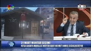 22/03/2019 YEREL SEÇİM 2019 - MEHMET ONMUŞ / FATSA SAKARYA MAHALLESİ MUHTAR ADAYI