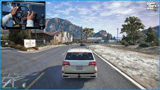 GTA 5 - Toyota Land Cruiser VXR V8   Logitech g29 Steering Wheel Gameplay