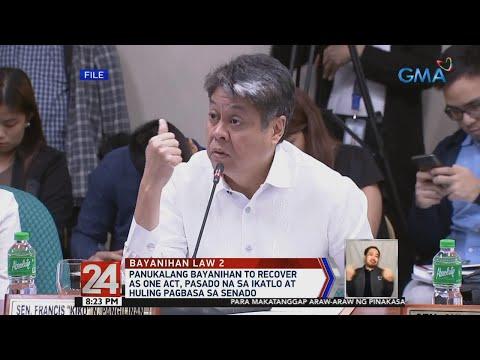 [GMA]  24 Oras: Panukalang Bayanihan to Recover as One Act, pasado na sa ikatlo at huling pagbasa sa Senado