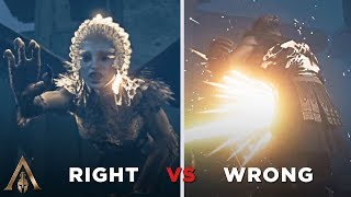 Right Answer vs Wrong Answer (The Sphinx) - Assassin's Creed Odyssey