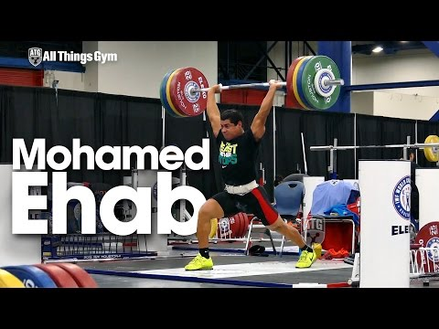 Mohamed Ehab Training Session w/ Warm Up & Stretching 2015 World Weightlifting Championships