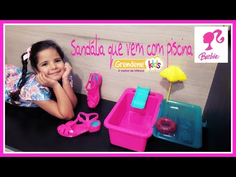 sand  lia barbie com piscina grendene kids e mattel