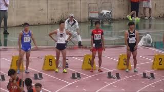 20180630広島県陸上選手権大会男子100m決勝