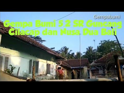 Berita Terkini Gempa Bumi di daerah Cilacap Dan Nusa Dua Bali kekuatan 5.2 SR Minggu 9 Juni 2019