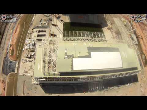 Primeiro voo no mundo, transmitido ao vivo, com um equipamento amador de uma arena de futebol