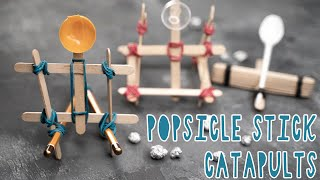 3 COOL DIY POPSICLE STICK CATAPULTS