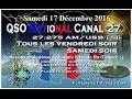 Samedi 17 Décembre 2016 QSO National du canal 27