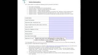 Vendor Pre-qualification Process