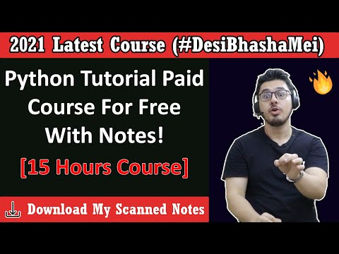 Python Tutorial For Beginners In Hindi (With Notes) 🔥