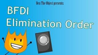 Battle For Dream Island Elimination Order