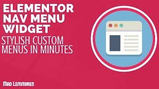 Elementor Nav Menu - A Simple Way To Make Menus