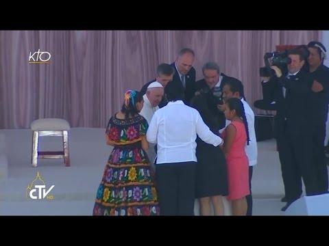 Le Pape François rencontre les familles à Tuxtla Gutierrez
