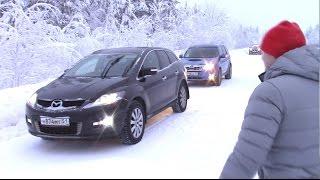Зимний старт Forester vs Mazda CX-7