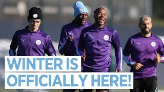 IT'S OFFICIALLY WINTER! | MAN CITY TRAINING