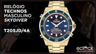 faf2bc2c871d8 Relógio Technos Masculino Skydiver T205JD 4A - Eclock