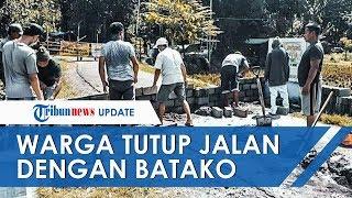 Viral Video Warga di Malang Tutup Jalan dengan Batako, Gagal Paham Aturan .