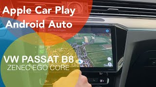 Car Play und Android Auto nachrüsten im VW Passat B8 Golf 7 Tiguan Touran Polo mit Zenec EGO Core