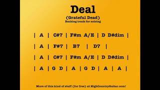 Deal  (Grateful Dead) 10 Minute Backing Track
