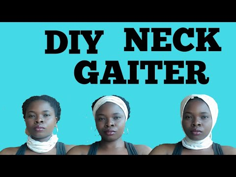 DIY Neck Gaiter Face Mask From Turban // No Sew.