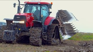 Ploughing   Case IH Puma 225 cvx on Soucy Tracks & Kverneland LO100 vario plow   De Nood