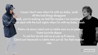 Ed Sheeran & Justin Bieber   I Don't Care Versuri Romana  Lyrics