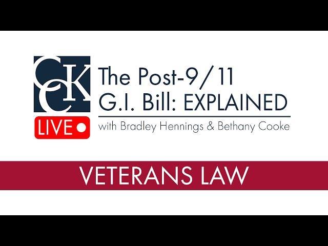 The Post-9/11 GI Bill Explained