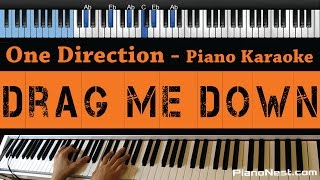 One Direction - Drag Me Down - LOWER Key (Piano Karaoke / Sing Along)