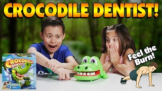 CROCODILE DENTIST WORKOUT CHALLENGE!!! Be FIT & Don