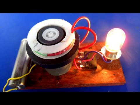 Electricity Free energy generator Motor – Science DIY project Self Running Motor