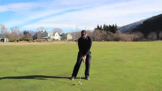 preview picture of video 'Millbrook Resort: Golf Lessons - Correct posture to get more shoulder turn'