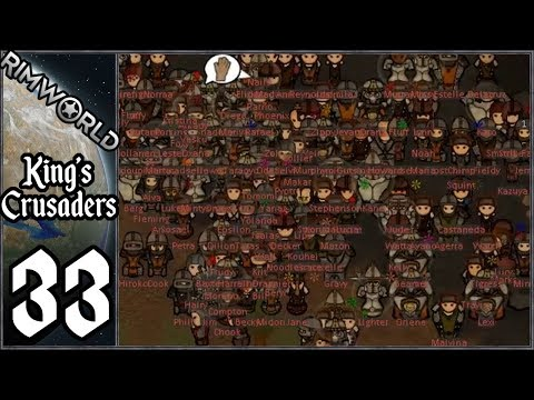 Rimworld: King's Crusaders #32 - Undead Invasion! - Видео