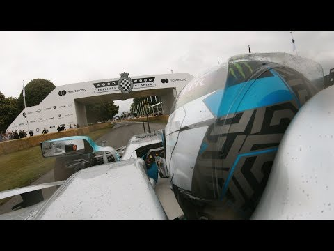 Onboard with Valtteri for Epic Donuts & Burnouts at Goodwood!