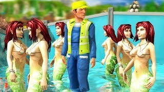 Forcing Mermaids to Become a Tourist Attraction at a Water Park - Wildlife Park 3