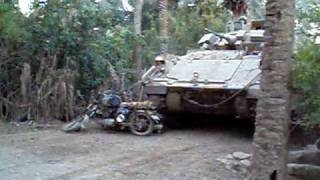 preview picture of video 'bradley destroys an insurgent motorcycle'