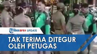 Viral Video Driver Ojol Marahi Petugas Satpol PP saat Ditegur Tak Pakai Masker