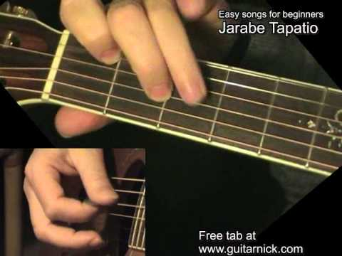 JARABE TAPATIO: Easy Guitar Lesson + TAB by GuitarNick